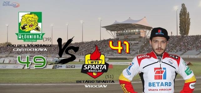 Betard Sparta Wrocław s Václavem Milíkem na 3.místě v PGE Ekstraligi
