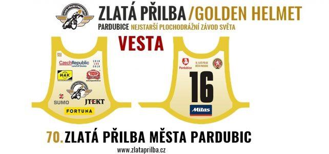 Chceš vestu z 70.ročníku Zlaté přilby města Pardubic